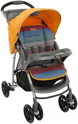 Graco Mirage Plus W Parent Tray and Boot Jaffa Stripe 1855710 (6M66JSPE)